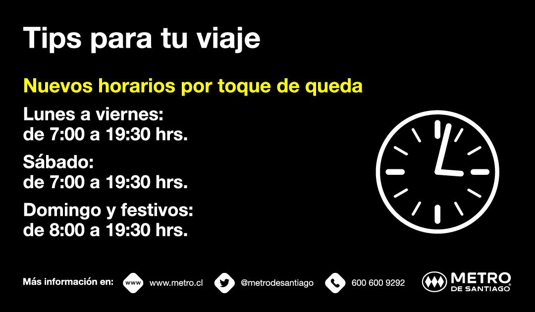 Toque De Queda Nuevos Horarios De Apertura Y Cierre De Metro De Santiago